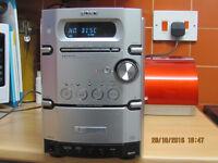 Sony mini Hi-Fi system, 5 plus 1 CD, tape player, AM/FW radio with speakers