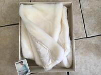 Vintage faux fur shawl