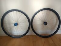 Carbon Clincher Disc Wheels with Hope Pro2Evo hubs. 10 Speed Shimano