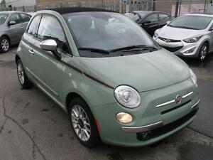 2012 Fiat 500C CONVERTIBLE 500c lounge cuir