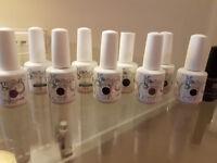 Mixed gelish harmony set of nail polish + top & base ( 3 used twice / 6 never used )