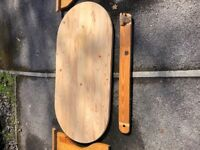 Deconstructed Pine Table ready for Upcycling or DIY project