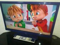 """24"""" logik TV built in freeview with remote control"""