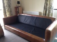 Top quality Hyde Leather Sofa 4 seater pl and Love chair John Lewis