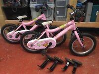 "Pair of girls bicycles 14"" Ridgeback Honey"
