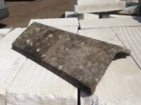 12 x Reclaimed Concrete Angled Ridge Tiles