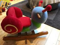 Mamas and papas snail rocker rocking chair musical