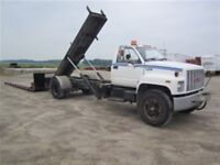 1991 GMC TOPKICK WITH ROLL OFF DECK