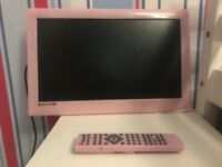 18inch pink flat screen tv with built in dvd player