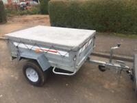 Larger Erde 142 tipping trailer + cover/jockey wheel