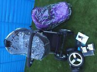 iCandy Apple2Pear Stroller in cassis (Purple) Flavour Pack with extras