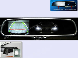auto dim rearview mirror with 3 5 camera display fits ford gm toyota nissan ebay. Black Bedroom Furniture Sets. Home Design Ideas