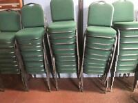 Green Stackable Banquet Chairs