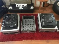 pioneer cdj1000mk3 with djm600s pluss flight cases