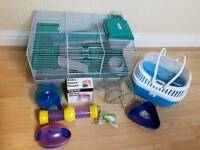 Hamster Cage, Travel Case & Accessories
