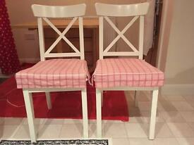 4 Ikea Ingolf DINING CHAIRS for sale!!