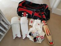 Junior Gray Nicolls Cricket Kit - Bat, Pads, Gloves, Bag & Whites