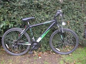 raleigh venture aluminium,21 speed,front suspension 18 in frame,very tidy