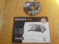 Vango Amazon 600 6 berth family tent.
