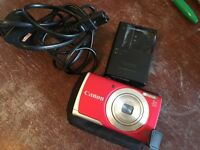 Canon PowerShot A2600 16.0 MP Digital Camera 5x Optical Zoom and 720p HD Video Recording (Red)