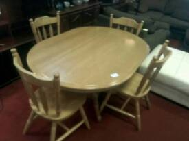 Solid Dining table & 4 chairs