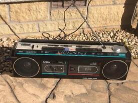 Aiwa vintage twin cassette/radio boom box