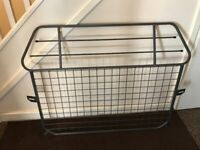 Dog guard for back of estate car and fold down car dog ramp