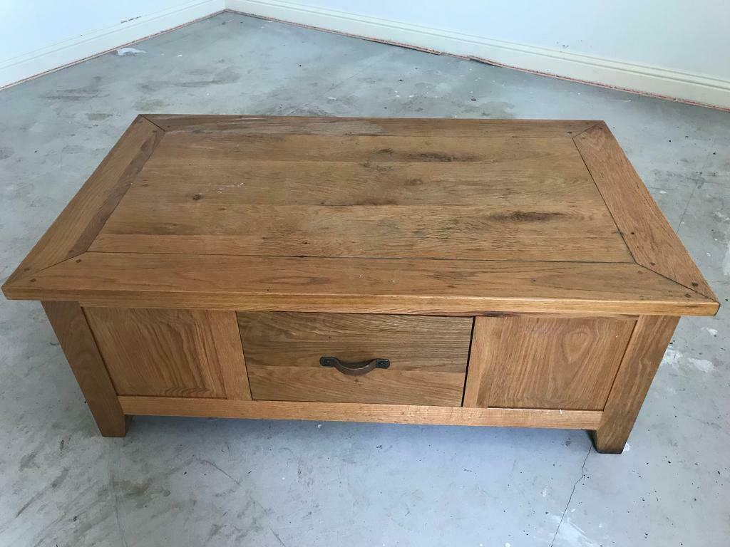 Excellent Large Solid Coffee Table With Drawers In Kings Lynn Norfolk Gumtree Machost Co Dining Chair Design Ideas Machostcouk