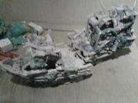large ship wreck for a fishtank 13in x 11in each piece