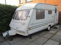 Abi 4 berth touring caravan full awning + 2 annex ready to go