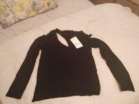 Zara black jumper size M new with tag