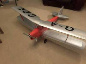 Radio controlled tiger moth aircraft