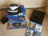 Ps4 500gb with VR headset and 7 games