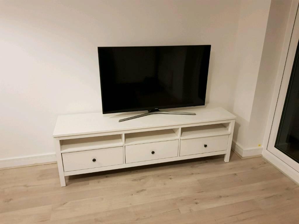 Ikea Hemnes Tv Unit White Stain Nearly New In Dorking Surrey Gumtree