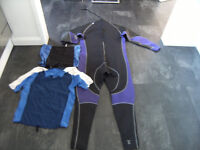 wet suit xxxl with t shirt used condition