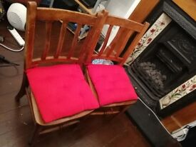 Two retro dining chairs
