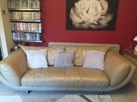 2 Real Italian Leather Sofas