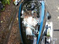 CLASSIC HARLEY DAVIDSON 883 SPORTSTER XLH. AIR BRUSHED PAINTWORK