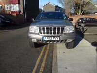 2002 Jeep Grand Cherokee 2.7 CRD Limited Station Wagon 4x4 5dr CUV 12 months mot