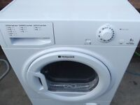 HOTPOINT 9KG CONDENSER TUMBLE DRYER IN WHITE FULLY REFURBISHED COMES WITH 3 MONTHS WARRANTY