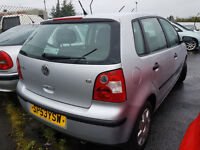 VW POLO 2003 69,000 MILES 1.2 PETROL MANUAL 5 DOOR HATCHBACK SILVER