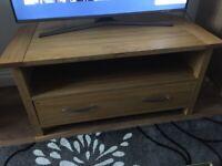 Solid Oak TV Corner Cabinet