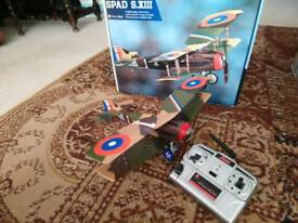 Rc plane Ares SPAD S.XIII rtf hitec red £40 or nearest offer