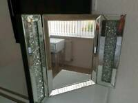 Crushed diamond dressing table mirror