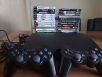 Sony PlayStation 3 Slim 250GB + 2 Controllers + 28 Games