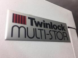 Twinlock tall vertical tambour cabinet