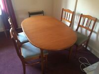 1 kitchen table and 4 chairs
