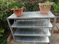 PLANT STAND / STORAGE RACK ALL STEEL ZINC PLATED CLIP TOGETHER FULLY ADJUSTABLE 157cm x 123cm x 63cm