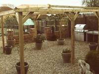 Wooden Garden pergola 4m x 3m