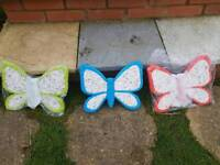 Brand new in box butterfly shaped stepping stones